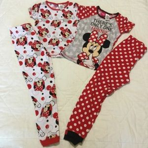 Disney Minnie Mouse Pajamas 2 Sets New without tag